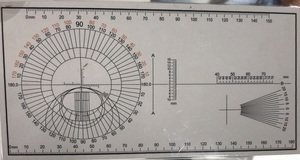 Astigmatic chart for optical master 层压板