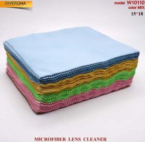 High-density microfiber napkin for glasses lens cleaning W10110, 15*18 cm (price for a pack)