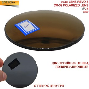 Polarized plastic lenses Ø75 mm POLARIZED LENS REVO-8 (price is for 1 pair)