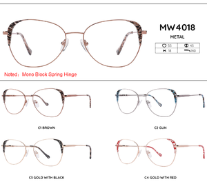 Metal frames for glasses MW4018