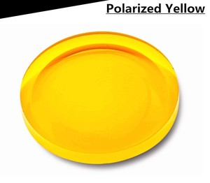 Polarized yellow plastic lenses, 1,499 index = price per pair!