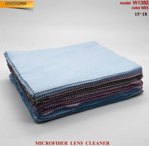 High-density microfiber napkin for glasses lens cleaning W1380, 15*18 cm (price for a pack)
