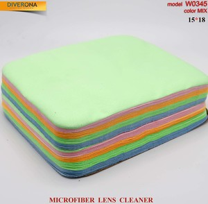 High-density microfiber napkin for glasses lens cleaning W0345, 15*18 cm (price for a pack)