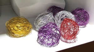 Decorative wicker balls (price for a 6 pieces set)