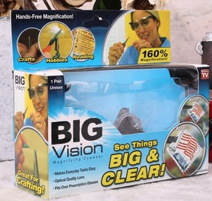 Glasses - magnifier diopter +2.50, the BIG VISION telemagazin