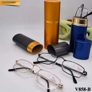 Metal eyeglasses Vizzini V858-B this metal cases