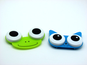 Contact lens case for kids K-579-13, 80x50x13 / 70x48x14 mm