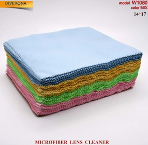 High-density microfiber napkin for glasses lens cleaning W1080, 14*17 cm (price for a pack)