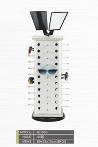Glasses desk stand with 44 slots and mirrors HD808