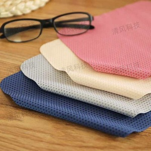 High-density microfiber napkin for glasses lens cleaning with  anti-slip dot pattern, 15*18 cm (price for a pack) 579-12
