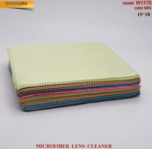 High-density microfiber napkin for glasses lens cleaning W1175, 15*18 cm (price for a pack)