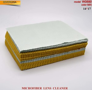 High-density microfiber napkin for glasses lens cleaning W0890, 14*17 cm (price for a pack)