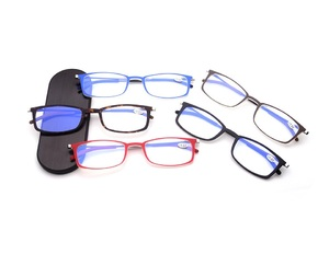 Reading glasses with case for attaching to the phone YJ-6012