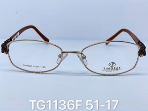 Metal frames for glasses Timgray TG1136F