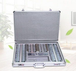 266 metal rim ophthalmic trial lens set in an aluminum case WZ-YG3