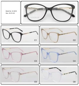 Plastic frames for glasses acetate material AC 8018