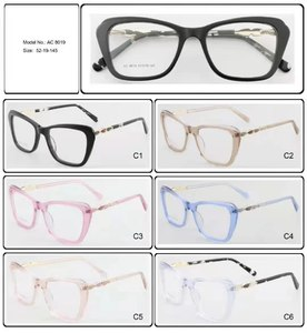 Plastic frames for glasses acetate material AC 8019