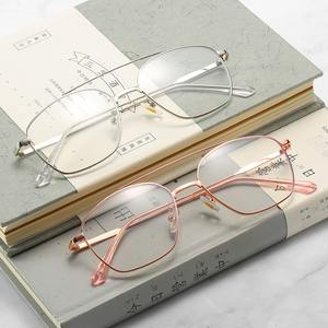 Metal eyeglasses V8612 with blue ray cut protection, diopters from 0.00 to -6.00, not centered