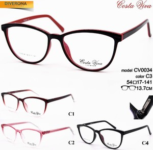 Plastic eyeglass frames with flex hinges Costa Viva CV0034