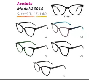 Plastic frames for glasses acetate material stylish 26015