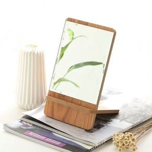 Table mirror for optics salon with yellow tint, 26*15 cm