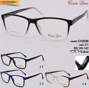 Plastic eyeglass frames with flex hinges Costa Viva CV0036