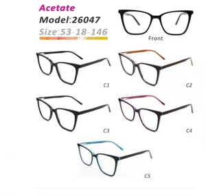 Plastic frames for glasses acetate material stylish 26047