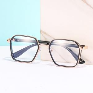 Metal eyeglasses V6030 with blue ray cut protection, diopters from 0.00 to -6.00, not centered