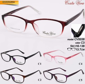 Plastic eyeglass frames with flex hinges Costa Viva CV0038