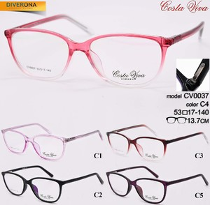 Plastic eyeglass frames with flex hinges Costa Viva CV0037