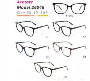 Plastic frames for glasses acetate material stylish 26048